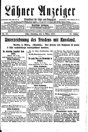 Lähner Anzeiger on Mar 5, 1918