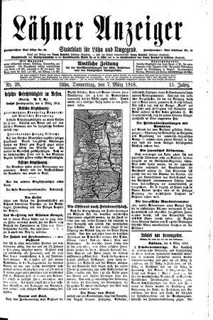 Lähner Anzeiger vom 07.03.1918