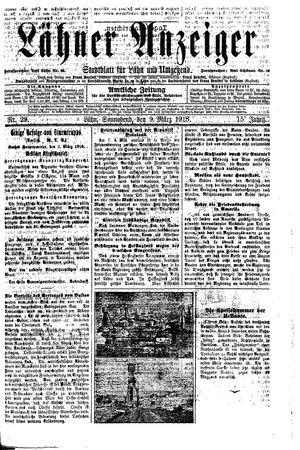 Lähner Anzeiger vom 09.03.1918