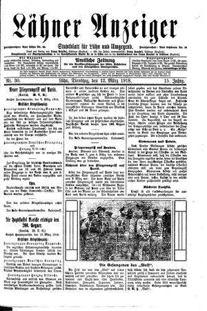 Lähner Anzeiger vom 12.03.1918