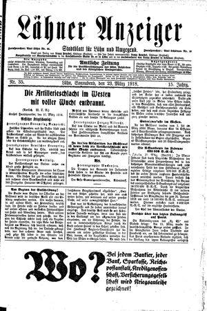 Lähner Anzeiger on Mar 23, 1918