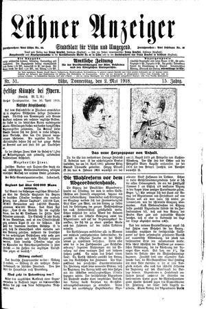 Lähner Anzeiger vom 02.05.1918