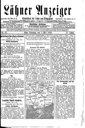 Lähner Anzeiger on May 7, 1918