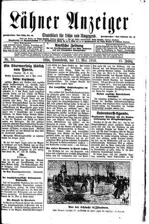 Lähner Anzeiger vom 11.05.1918