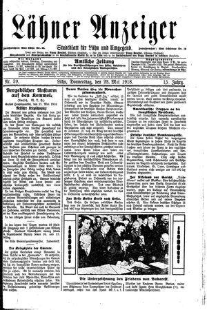 Lähner Anzeiger vom 23.05.1918