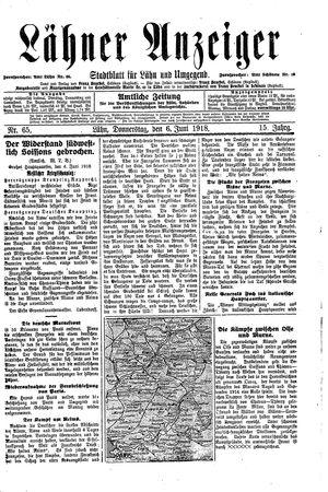 Lähner Anzeiger vom 06.06.1918