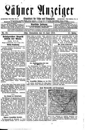 Lähner Anzeiger on Jun 15, 1918