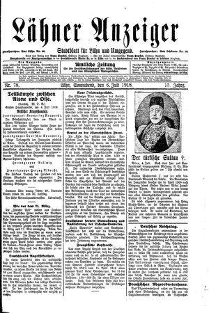 Lähner Anzeiger vom 06.07.1918