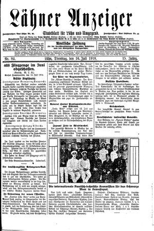 Lähner Anzeiger vom 16.07.1918