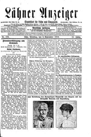 Lähner Anzeiger vom 03.09.1918