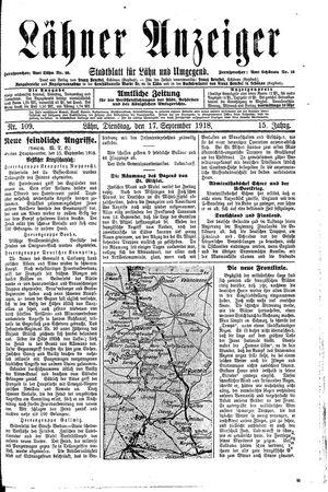 Lähner Anzeiger on Sep 17, 1918