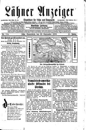 Lähner Anzeiger on Sep 28, 1918