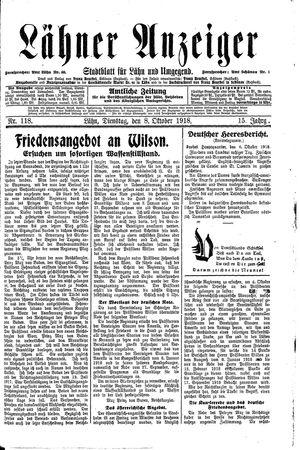 Lähner Anzeiger on Oct 8, 1918
