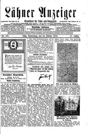 Lähner Anzeiger vom 24.10.1918