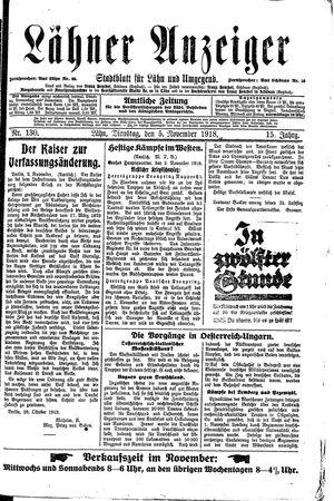 Lähner Anzeiger vom 05.11.1918