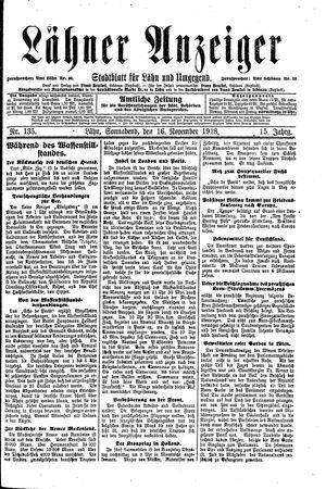 Lähner Anzeiger vom 16.11.1918