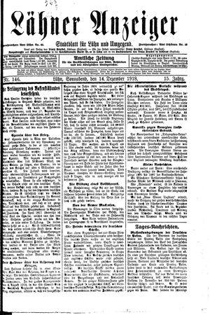 Lähner Anzeiger vom 14.12.1918