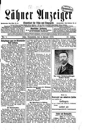 Lähner Anzeiger vom 04.01.1919