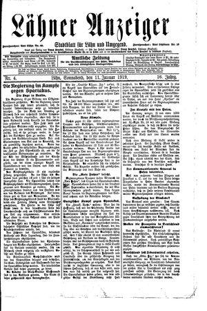 Lähner Anzeiger vom 11.01.1919