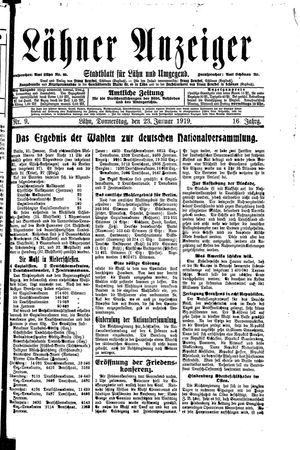 Lähner Anzeiger on Jan 23, 1919