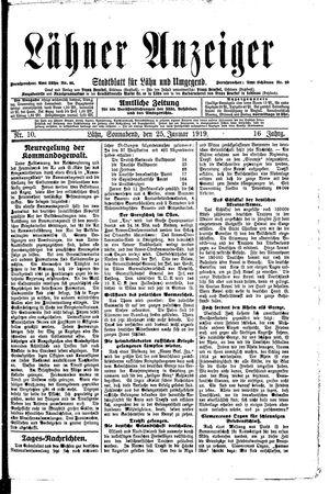 Lähner Anzeiger vom 25.01.1919