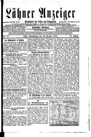 Lähner Anzeiger vom 30.01.1919