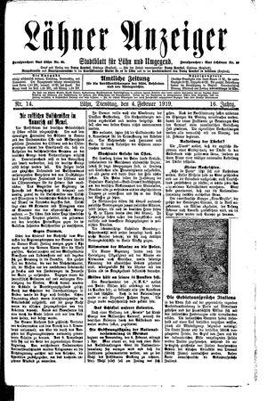 Lähner Anzeiger on Feb 4, 1919