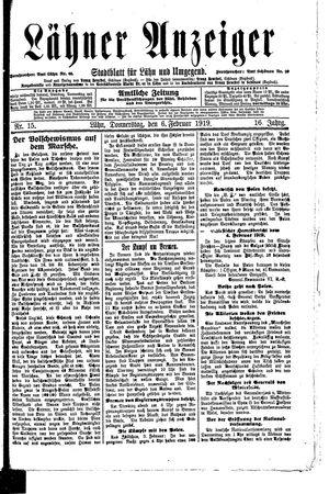 Lähner Anzeiger vom 06.02.1919