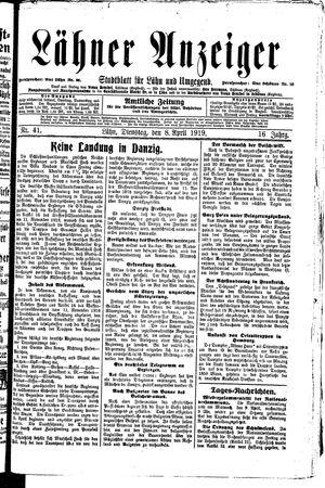 Lähner Anzeiger vom 08.04.1919