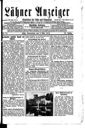 Lähner Anzeiger vom 03.05.1919