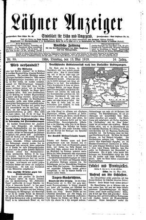 Lähner Anzeiger vom 13.05.1919