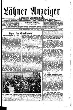 Lähner Anzeiger vom 17.05.1919