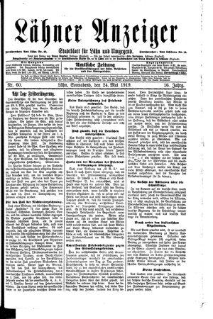 Lähner Anzeiger vom 24.05.1919