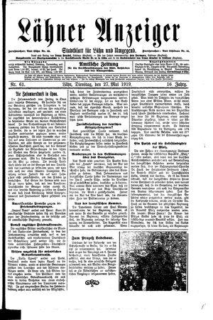 Lähner Anzeiger vom 27.05.1919
