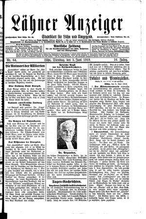 Lähner Anzeiger vom 03.06.1919