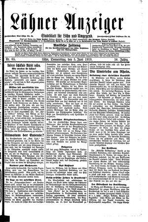 Lähner Anzeiger vom 05.06.1919