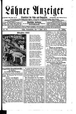 Lähner Anzeiger vom 07.06.1919
