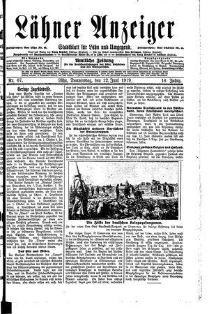 Lähner Anzeiger vom 12.06.1919
