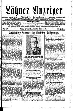 Lähner Anzeiger on Jun 26, 1919