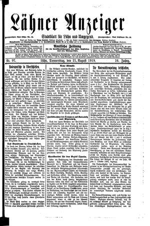 Lähner Anzeiger vom 21.08.1919