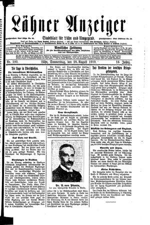 Lähner Anzeiger on Aug 28, 1919
