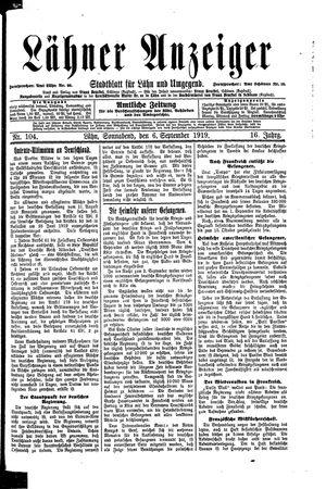 Lähner Anzeiger vom 06.09.1919