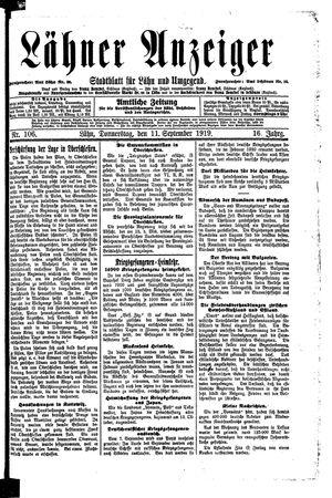 Lähner Anzeiger vom 11.09.1919