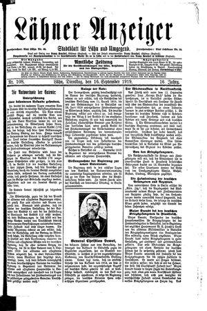 Lähner Anzeiger on Sep 16, 1919