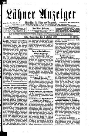 Lähner Anzeiger vom 02.10.1919