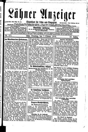 Lähner Anzeiger vom 07.10.1919