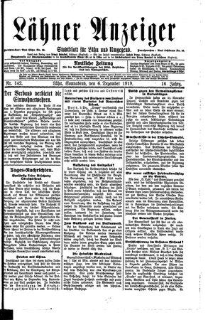 Lähner Anzeiger vom 06.12.1919