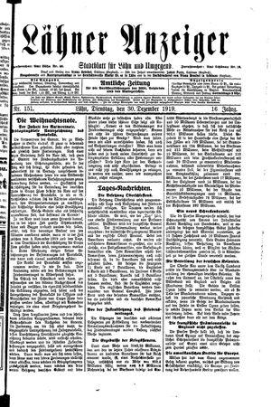 Lähner Anzeiger on Dec 30, 1919
