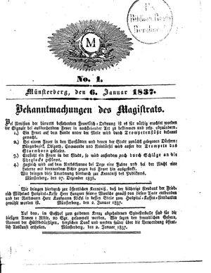 M vom 06.01.1837