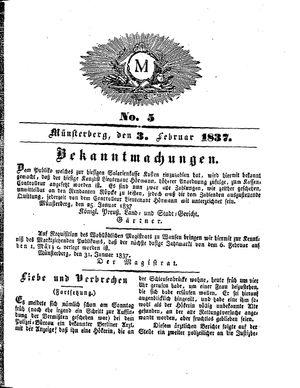 M vom 03.02.1837